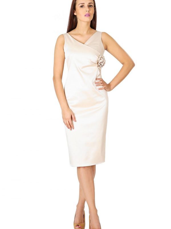 Sukienka Afrodyta w kolorze ecru