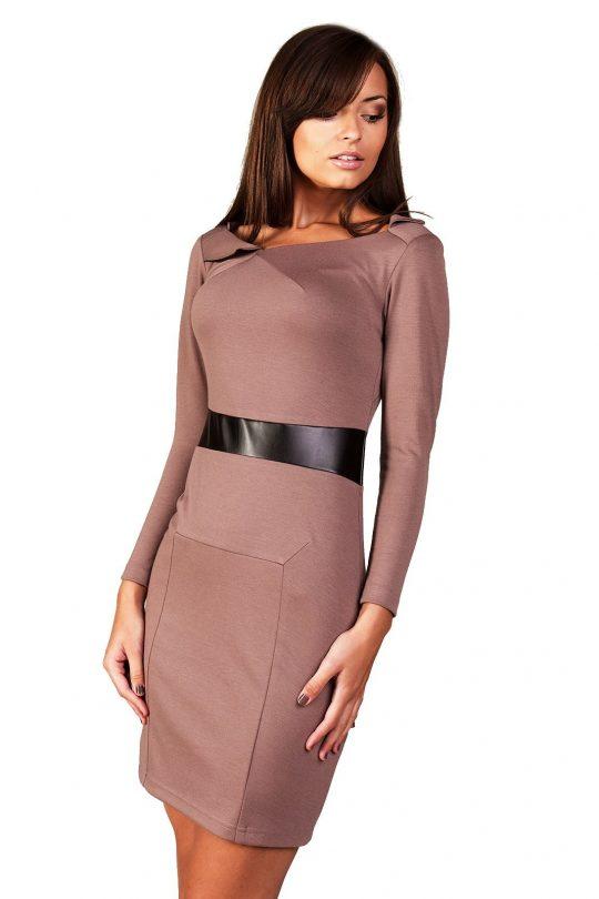 Sukienka Astrid w kolorze beżowym