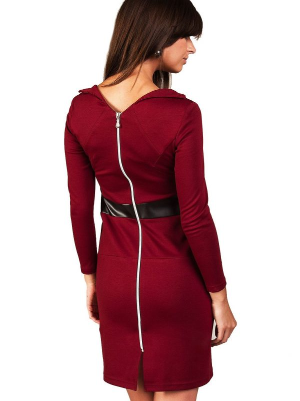 Sukienka Astrid w kolorze bordo