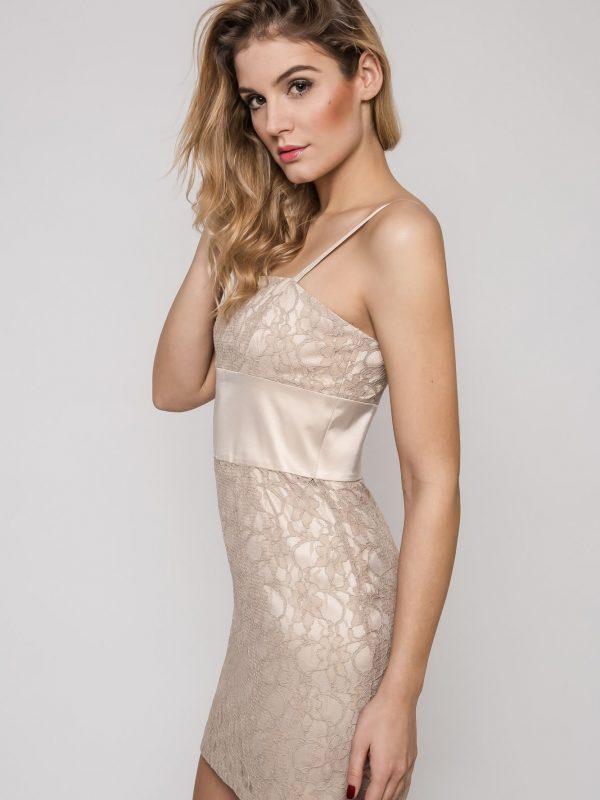 Sukienka Bella w kolorze beżowym