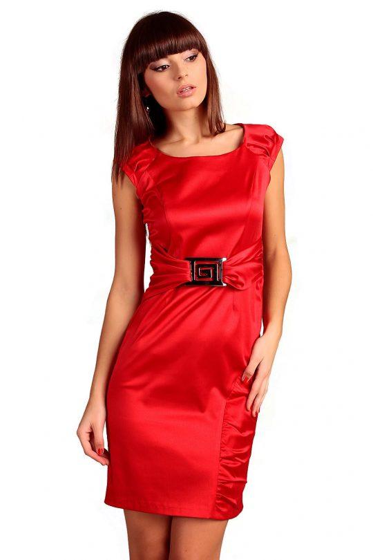Sukienka Bianka w kolorze czerwonym