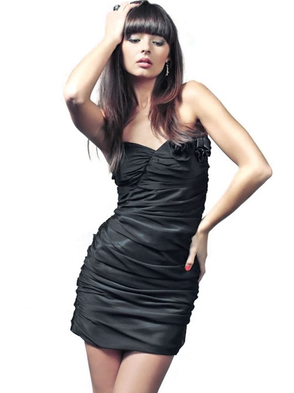 Sukienka Brigitte w kolorze czarnym