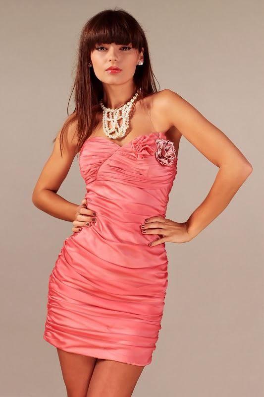 Sukienka Brigitte w kolorze łososiowym
