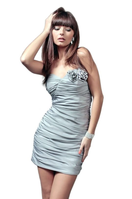 Sukienka Brigitte w kolorze srebrnym
