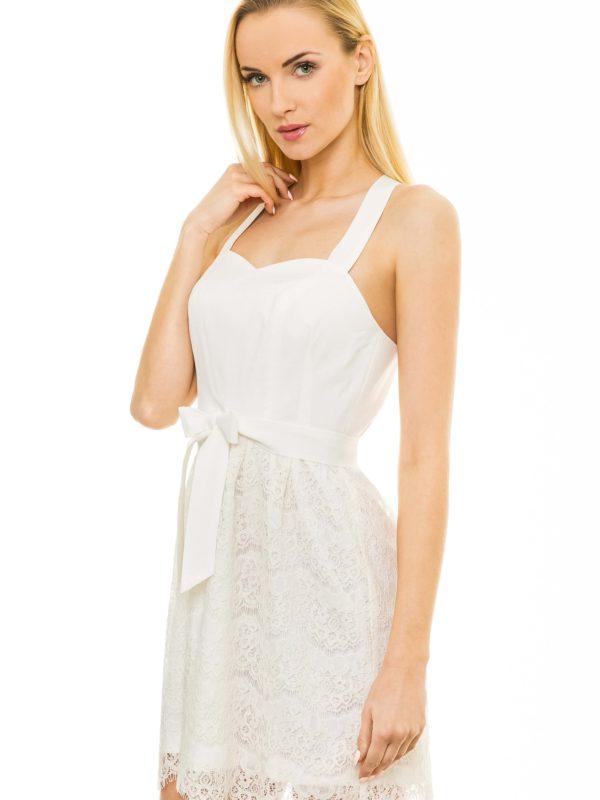 Sukienka Caroline w kolorze ecru