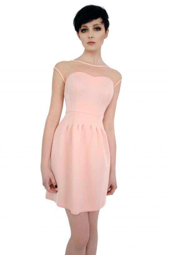Sukienka Catherine w kolorze pudrowym