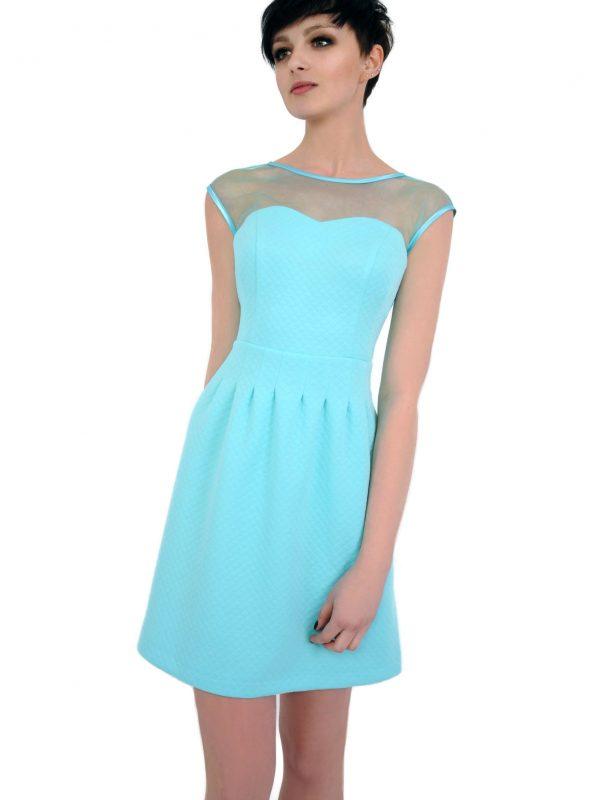 Sukienka Catherine w kolorze turkusowym