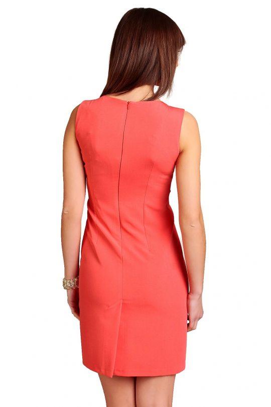 Sukienka Chantale w kolorze koralowym