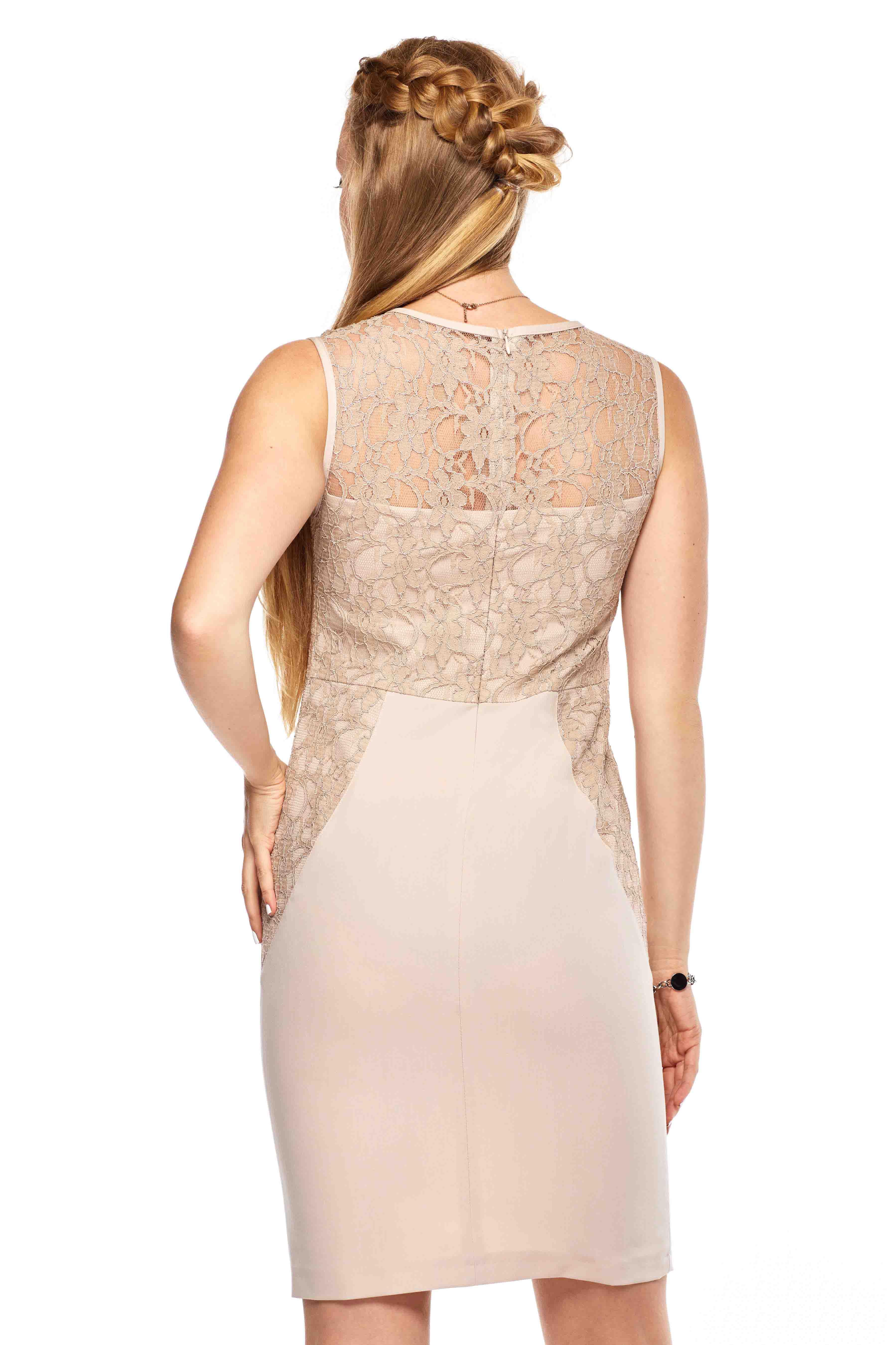 Sukienka Diana w kolorze beżowym