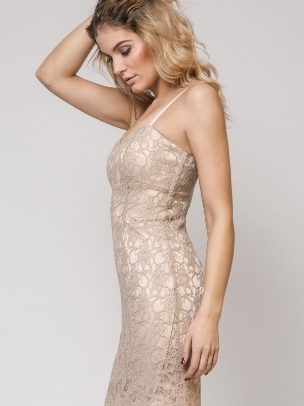 Doris Kleid in beige Farbe