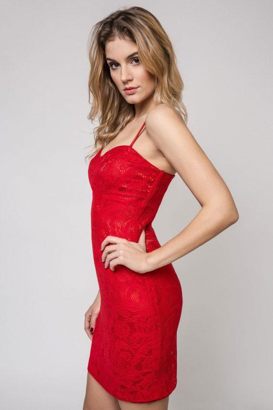 Sukienka Doris w kolorze czerwonym