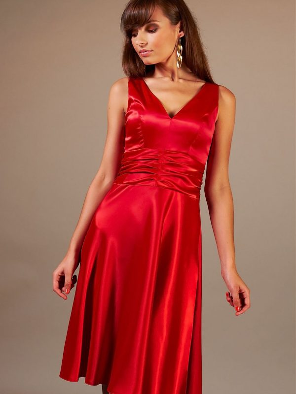 Sukienka Edyta w kolorze czerwonym