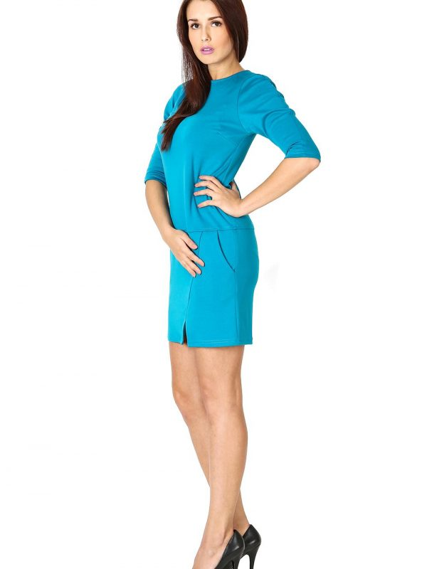 Elena dress, blue color