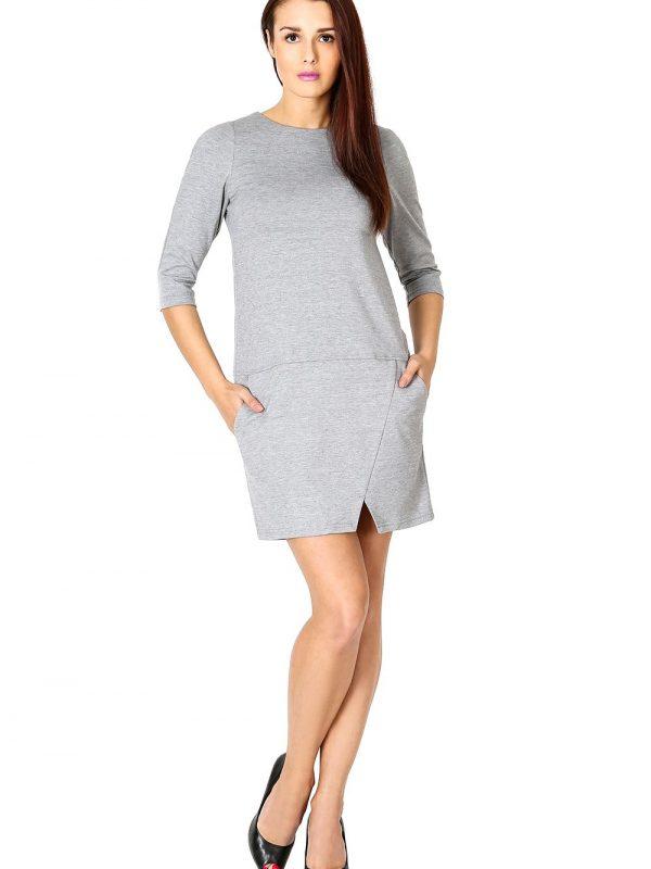 Sukienka Elena w kolorze popielatym
