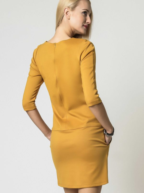 ELENA dress in honey color