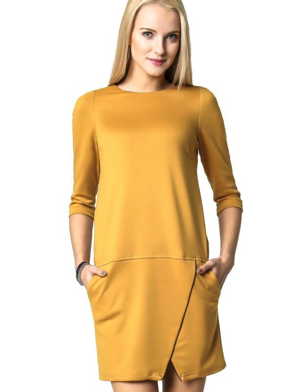 Sukienka ELENA w kolorze miodowym