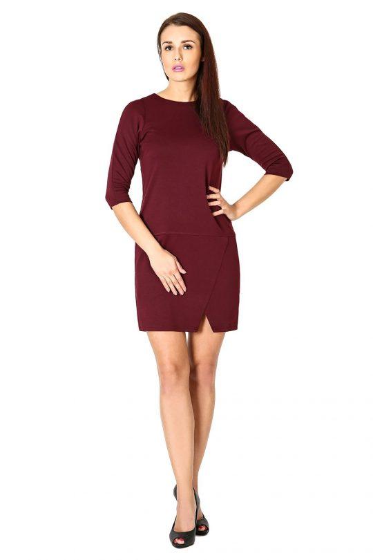 Sukienka Elena w kolorze bordowym