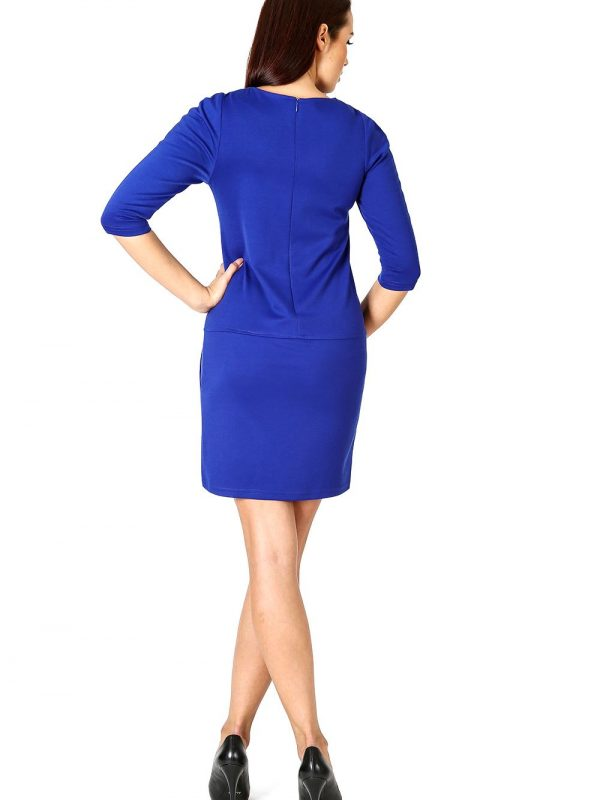 Elena dress in sapphire color