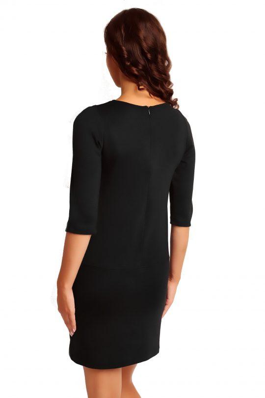 Sukienka ELENA TRIMMED w kolorze czarnym
