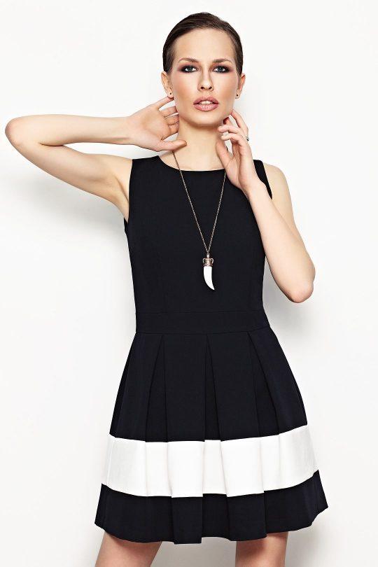 Sukienka Elodie w kolorze czarny z ecru