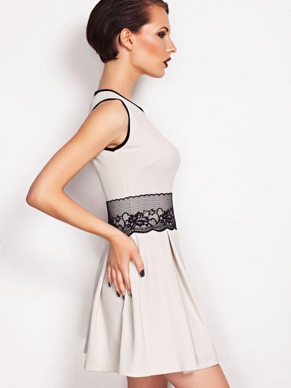 Sukienka ELODIE SOMMER w kolorze ecru
