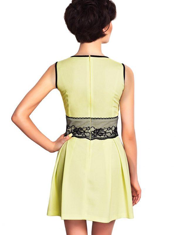 Sukienka ELODIE SOMMER w kolorze limonka