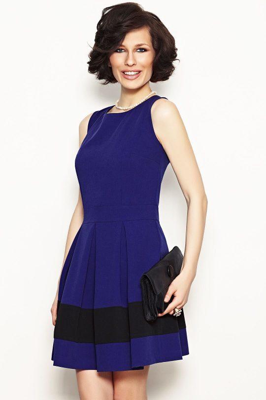Sukienka Elodie w kolorze chabrowym
