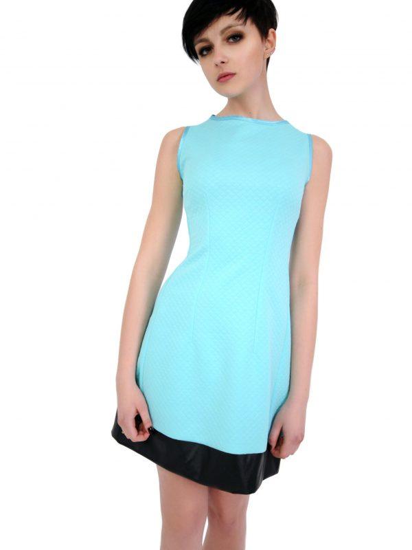 Sukienka Emilie w kolorze turkusowym