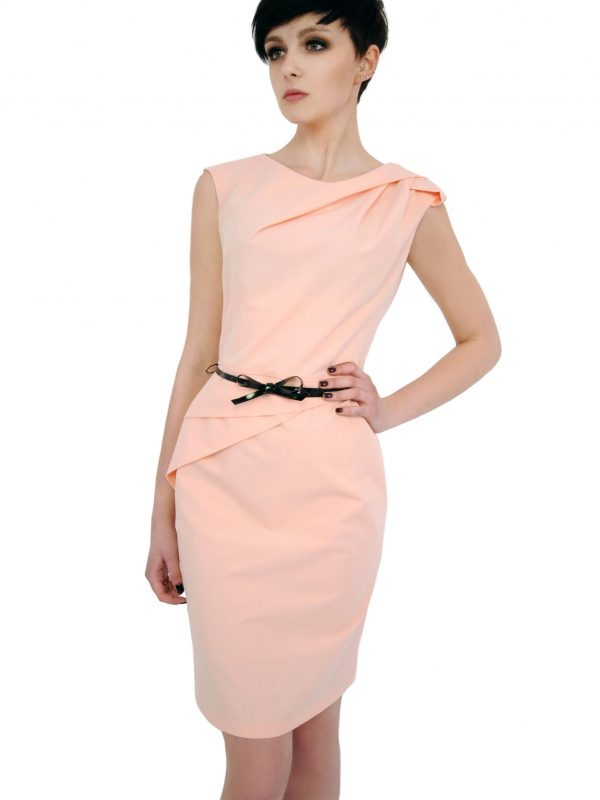Sukienka Estera w kolorze pudrowym
