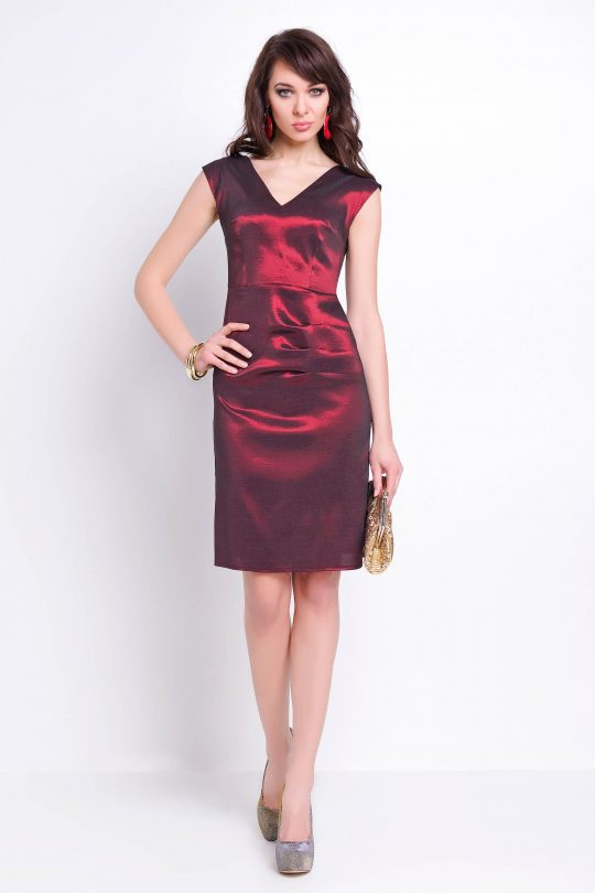 Sukienka Fiona w kolorze bordowym