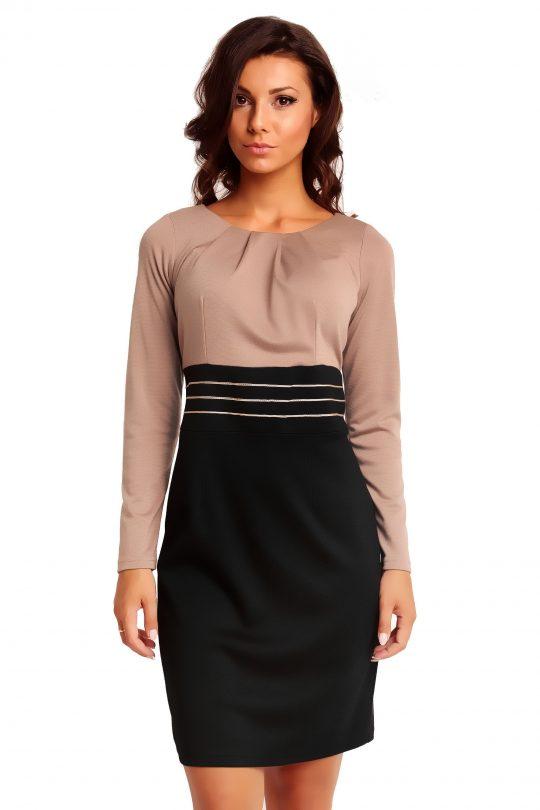 Sukienka GABI KNITTWEAR w kolorze beżowym