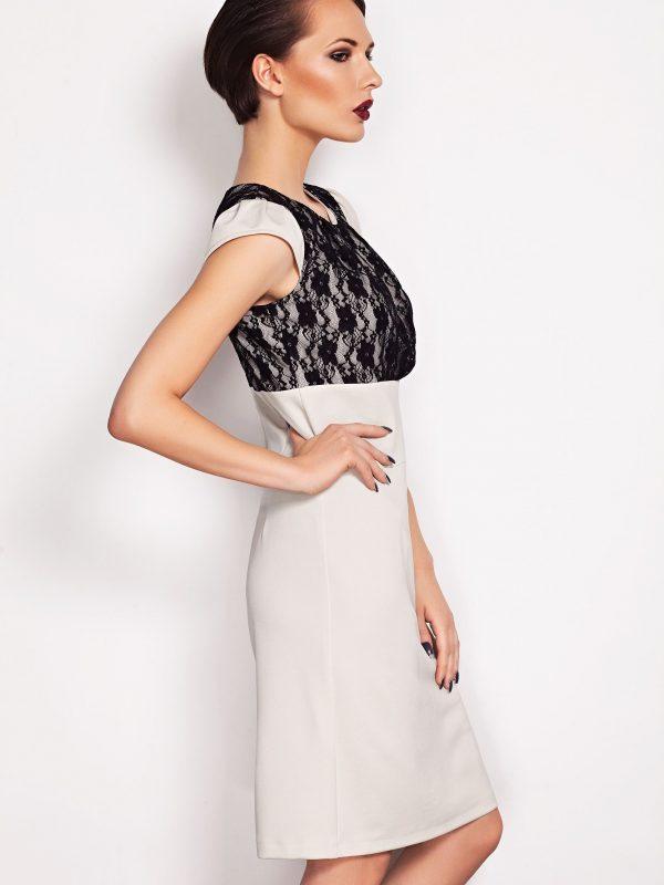 Sukienka GABI w kolorze beżowym