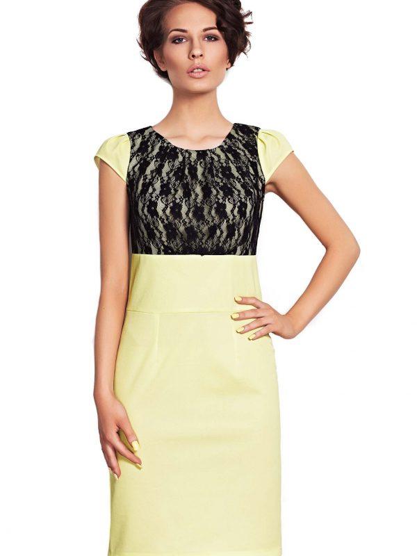 Sukienka GABI w kolorze limonka
