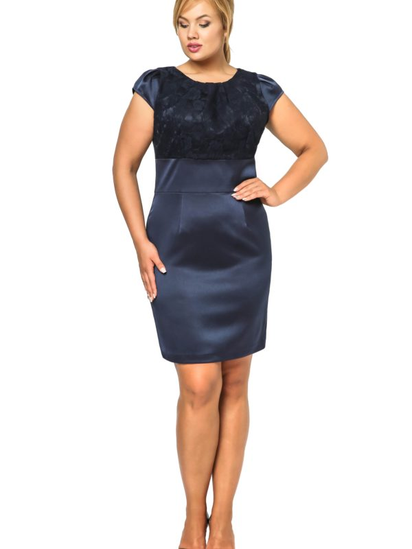 Sukienka Gabi Lace w kolorze granatowym