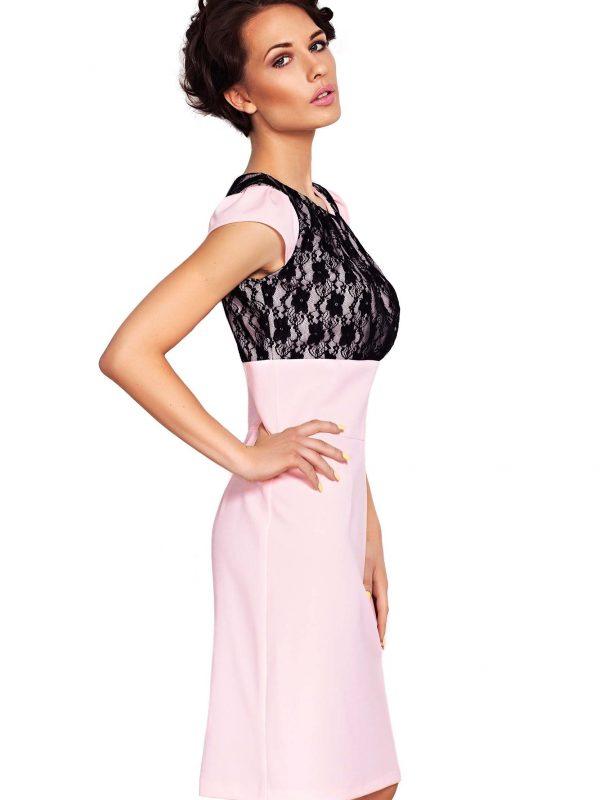 Sukienka GABI w kolorze pudrowym