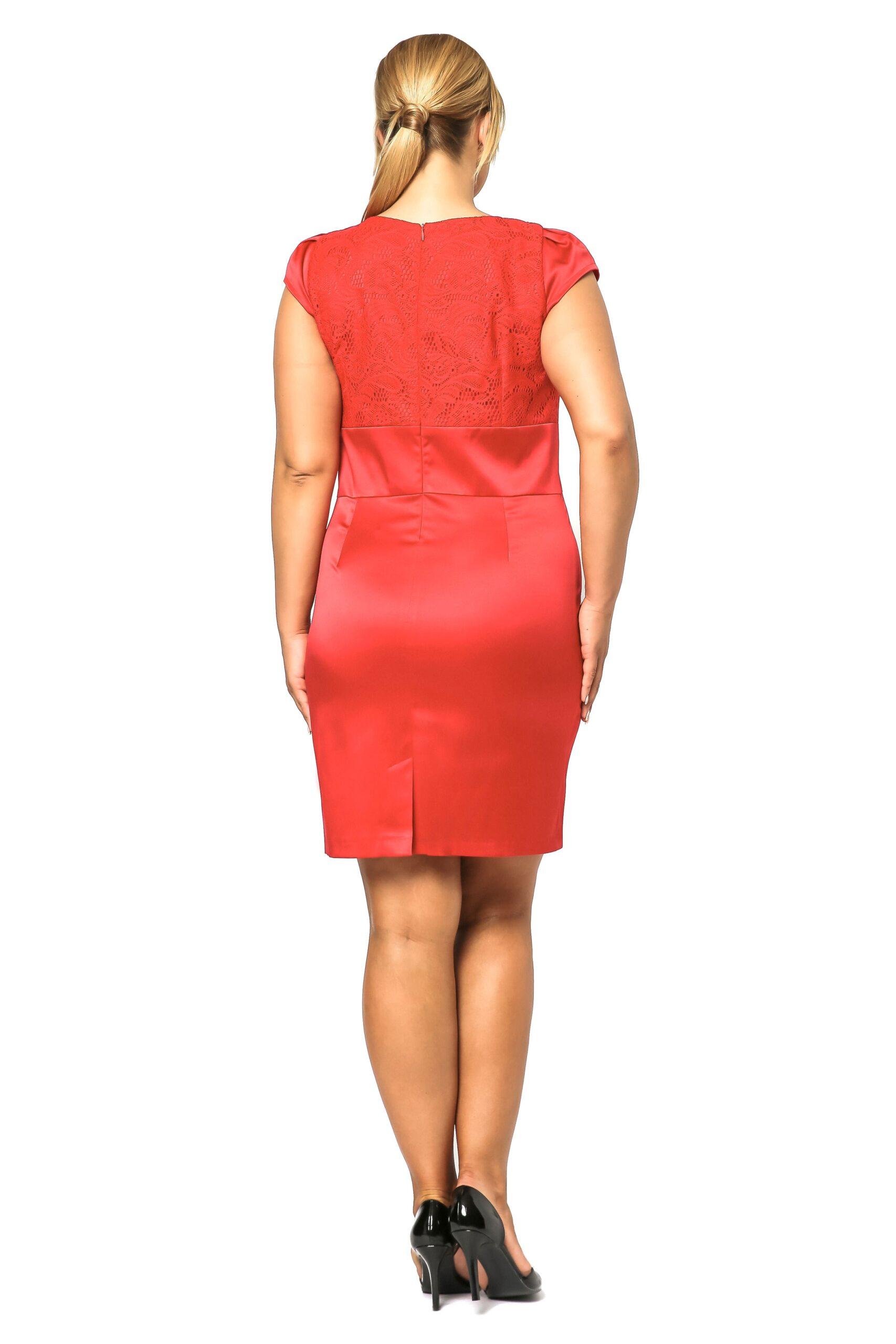 Sukienka Gabi Lace w kolorze czerwonym