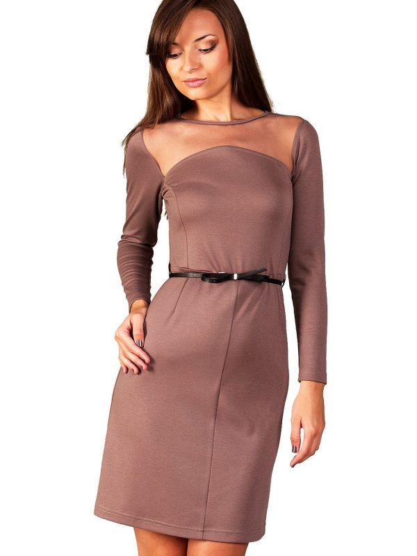 Sukienka Giselle w kolorze beżowym