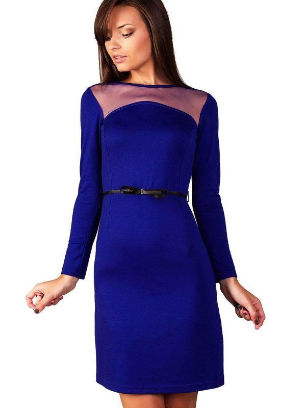 Sukienka Giselle w kolorze szafirowym