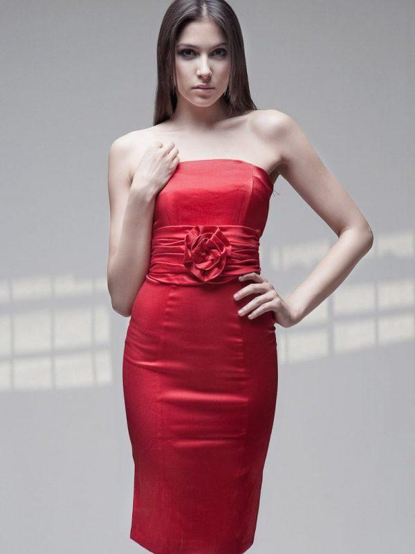 Sukienka Ilona w kolorze czerwonym