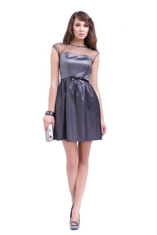 Sukienka Ivone w kolorze srebrnym