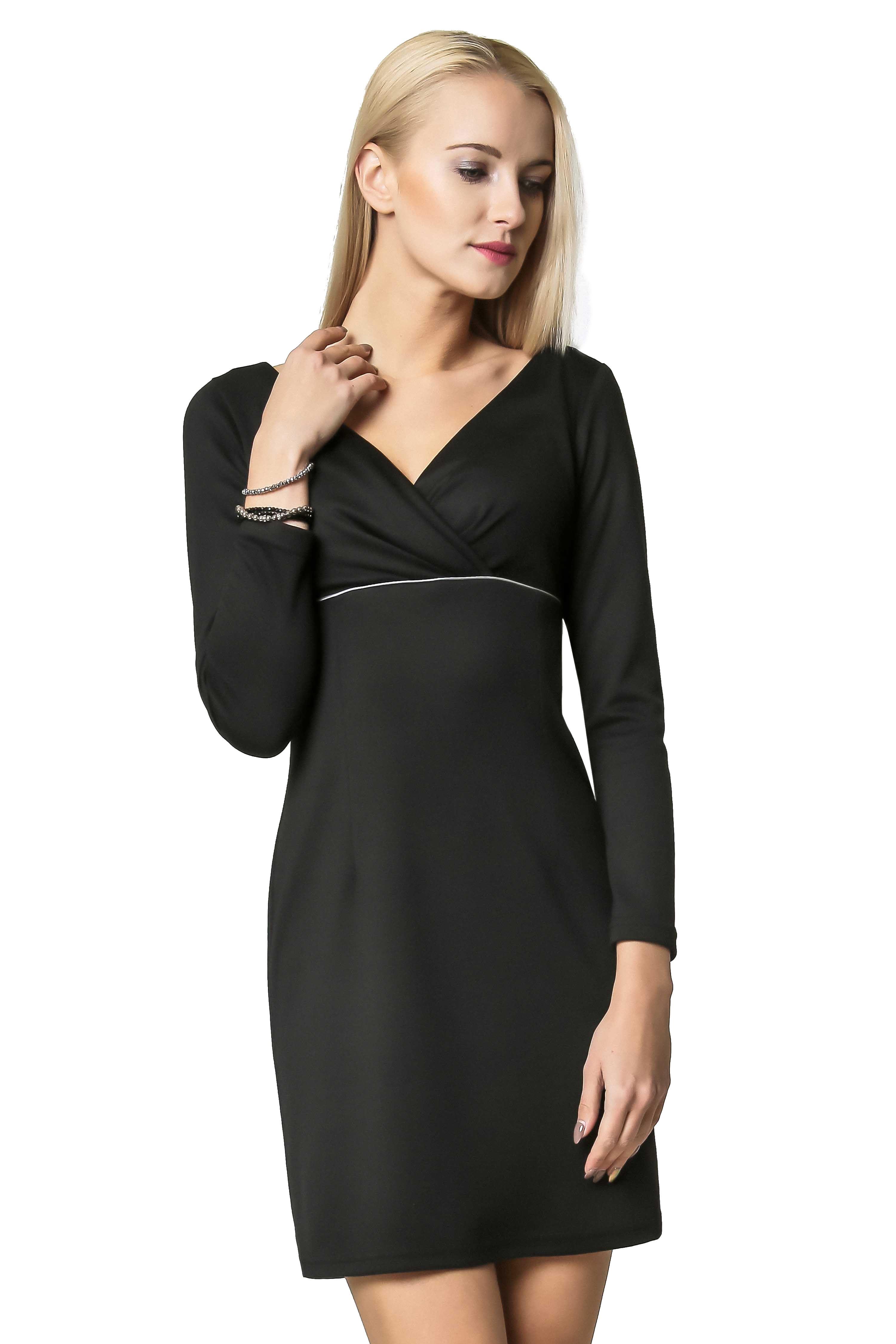 Sukienka Marie Knitwear w kolorze czarnym