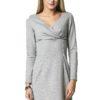 Sukienka Marie Knitwear w kolorze szarym