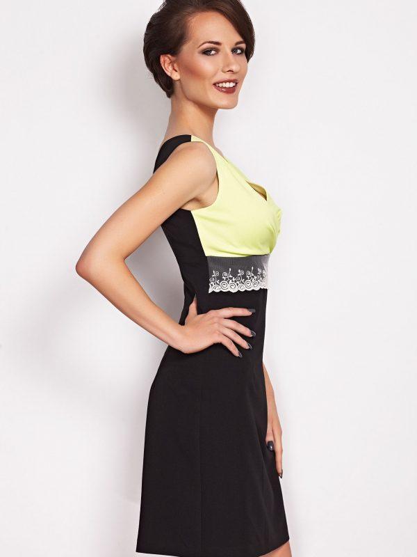 Sukienka Marie w kolorze limonka