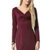 Sukienka Marie Knitwear w kolorze bordowym