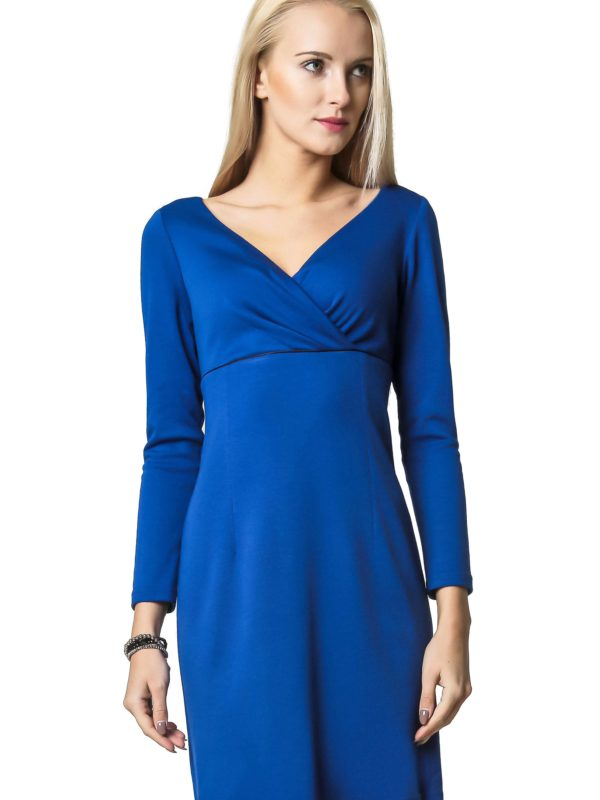 Sukienka Marie Knitwear w kolorze chabrowym