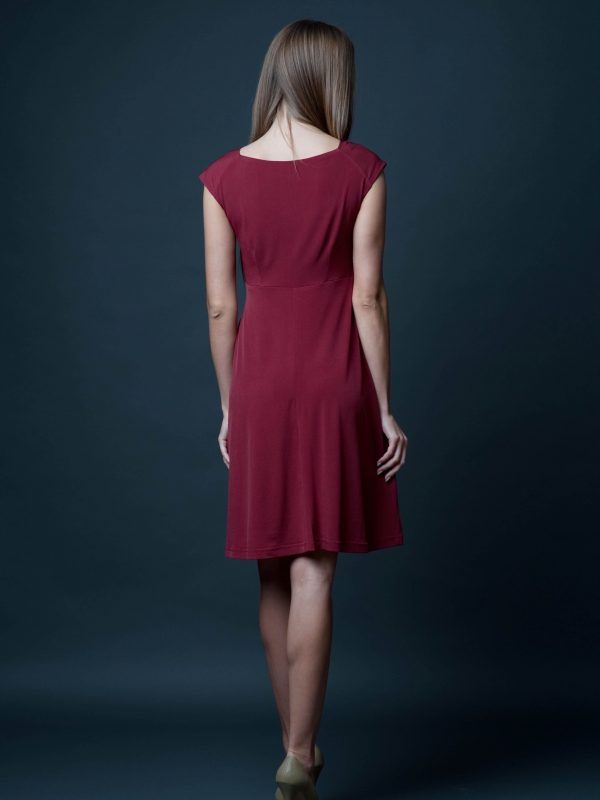 Sukienka Milena w kolorze bordowym