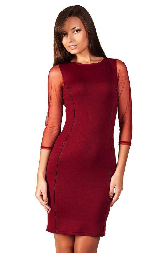 Sukienka Mirelle w kolorze bordo