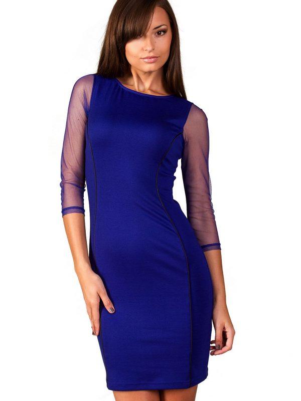 Sukienka Mirelle w kolorze szafirowym