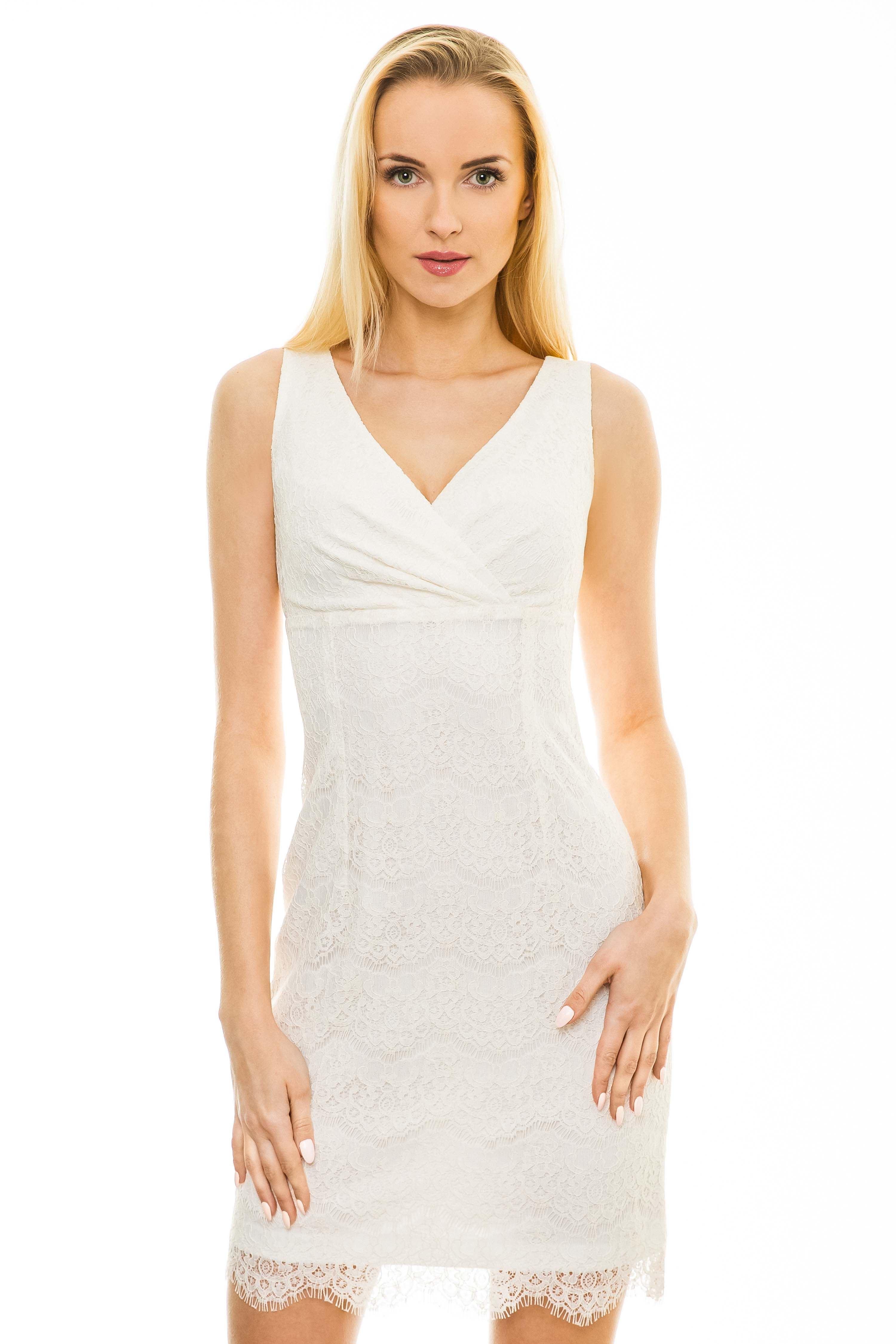 Sukienka Monique w kolorze ecru