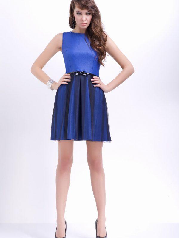Sukienka Natalie w kolorze chabrowym